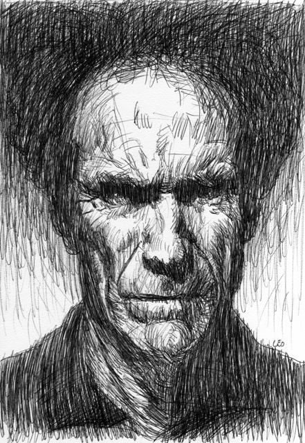 Clint Eastwood par leopeintre